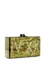 M'o Exclusive: Jean 420 Gllitter Acrylic Clutch by EDIE PARKER Now Available on Moda Operandi