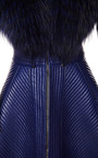 Trapunto Stitched Coat With Fur Collar by J. MENDEL for Preorder on Moda Operandi