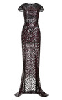 Short Sleeve Embroidered Gown by J. MENDEL for Preorder on Moda Operandi