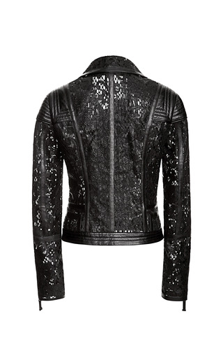 Moto Jacket With Binding Detail by J. MENDEL for Preorder on Moda Operandi