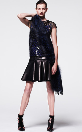 Skirt With Box Pleats by J. MENDEL for Preorder on Moda Operandi