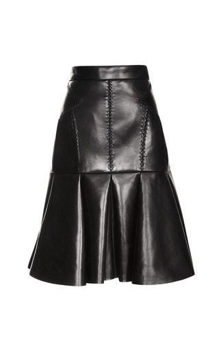 Medium j mendel black skirt with box pleats