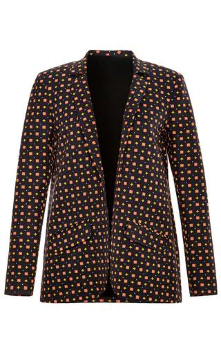 Medium suno black square tie black relaxed blazer
