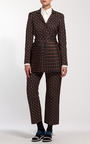 Square Tie Black Slight Flare Trousers by SUNO for Preorder on Moda Operandi