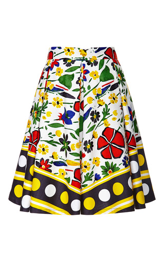 Medium suno floral abstract floral kanga pleated skirt