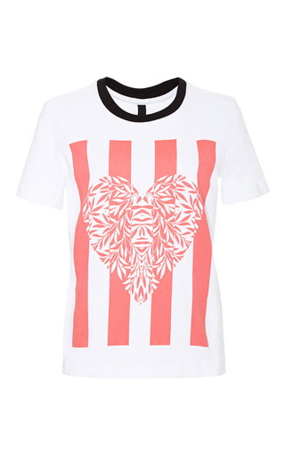 Juno Printed Cotton Jersey T Shirt by MOTHER OF PEARL Now Available on Moda Operandi