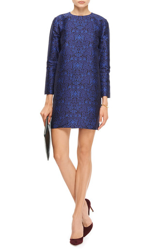 Anna Printed Cotton Blend Dress by MOTHER OF PEARL Now Available on Moda Operandi
