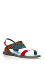 Mexican Patent Leather And Embroidered Sandals by NICHOLAS KIRKWOOD Now Available on Moda Operandi