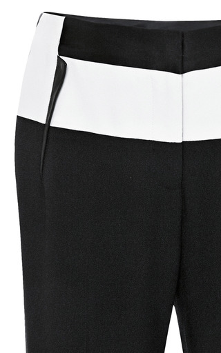Leather Inset Cropped Pants by PRABAL GURUNG Now Available on Moda Operandi