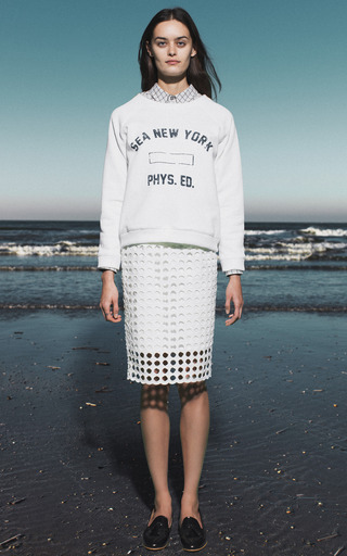 White Sea Phys. Ed Sweatshirt by SEA for Preorder on Moda Operandi