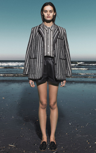 Japanese Stripes Washed Blazer by SEA for Preorder on Moda Operandi