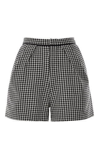 Medium sea off white needlepoint houndstooth shorts