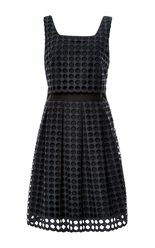 Medium sea navy giant eyelet tank dress