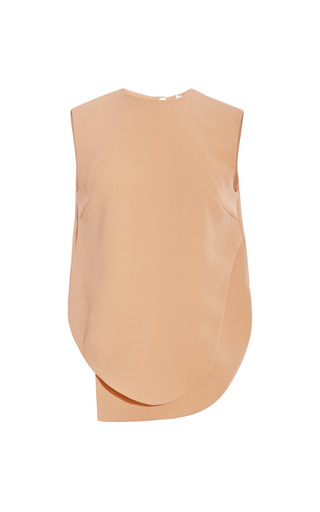 Medium opening ceremony brown theroux keyhole sleeveless top