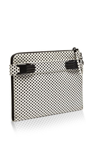 Paloma Printed Suede Clutch by OPENING CEREMONY Now Available on Moda Operandi