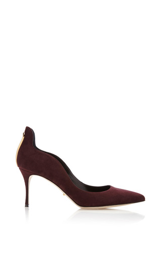 Medium sergio rossi burgundy blink pump