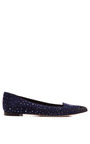 Smoking Crystal Embellished Suede Flats by SERGIO ROSSI Now Available on Moda Operandi
