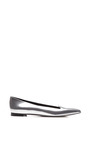 Godiva Metallic Leather Flats by SERGIO ROSSI Now Available on Moda Operandi