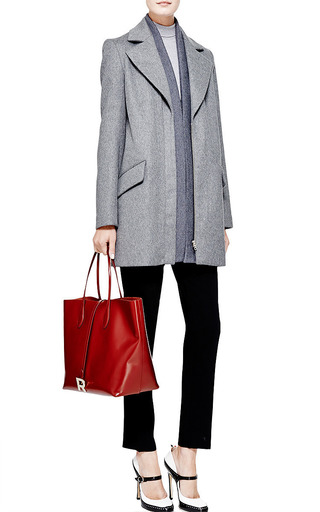 Brushed Wool Coat by THAKOON Now Available on Moda Operandi