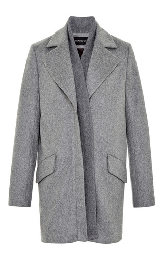 Medium thakoon dark grey rib front coat
