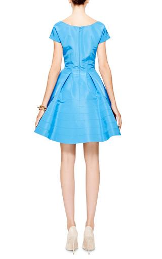 Silk Faille A Line Dress by ZAC POSEN Now Available on Moda Operandi