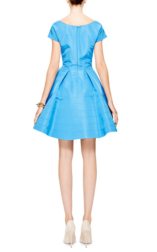 Silk Faille A Line Dress by ZAC POSEN Now Available on Moda Operandi