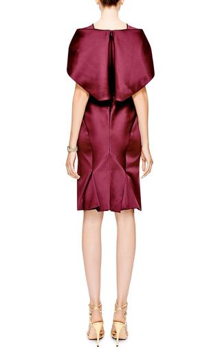 Cape Effect Duchess Satin Dress by ZAC POSEN Now Available on Moda Operandi