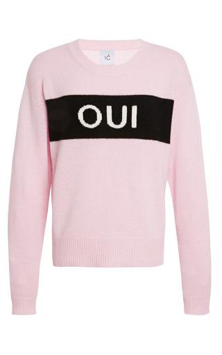 Medium karla spetic multi yes crewneck cashmere sweater