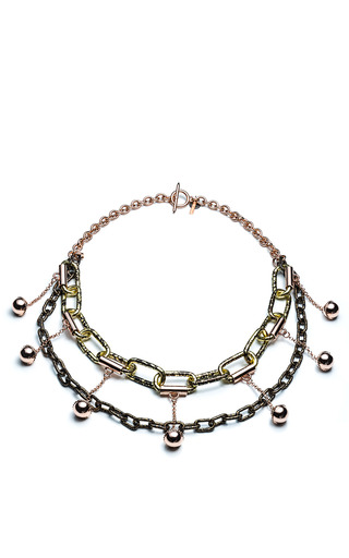 Medium vintage vanguard black eddie borgo vanguard necklace