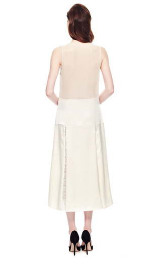 Francisco Costa For Calvin Klein Washed Charmeuse Slip Dress by VINTAGE VANGUARD for Preorder on Moda Operandi