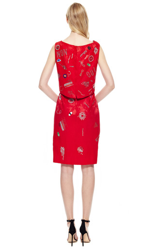 Libertine Vintage Dress With Beaded And Crystal Embellishments by VINTAGE VANGUARD for Preorder on Moda Operandi