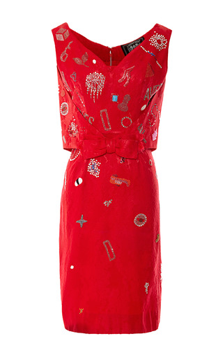 Medium vintage vanguard multi libertine vintage dress with beaded and crystal embellishments