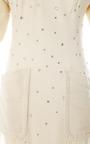 Olivier Theyskens Embellished Crepe Dress With Flannel Sleeves by VINTAGE VANGUARD for Preorder on Moda Operandi