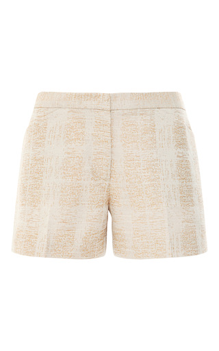 Tory Burch Floral Embroidered Tunic And Summer Boy Shorts by VINTAGE VANGUARD for Preorder on Moda Operandi