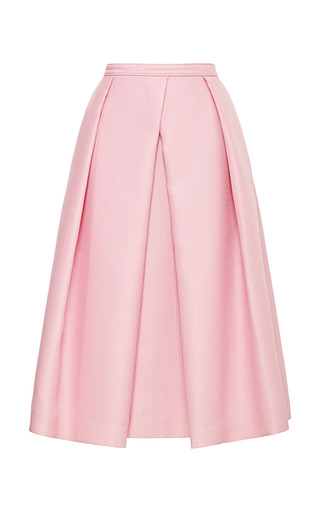 Medium tibi pink simona jacquard full skirt 2