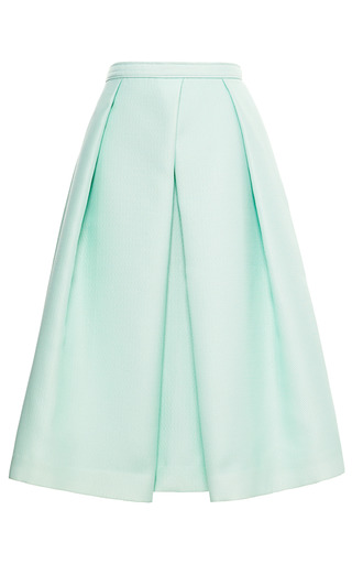 Medium tibi blue simona jacquard full skirt