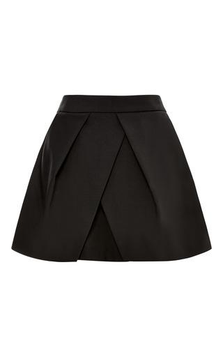 Medium tibi black tropical wool pleated shorts