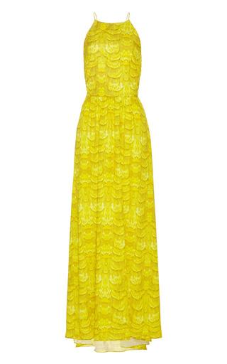 Medium tibi yellow corset back maxi dress