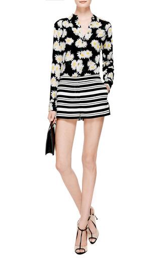 Woven Striped Shorts by TIBI Now Available on Moda Operandi