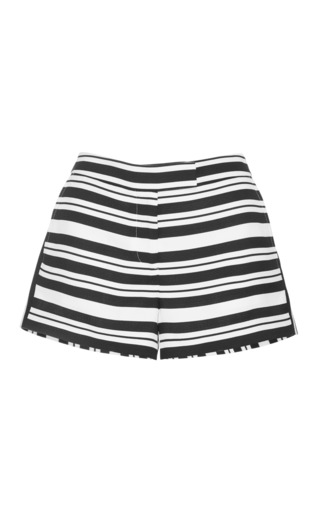 Medium tibi black woven striped shorts