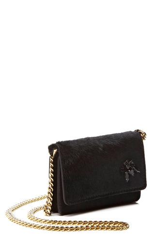 Black Haircalf Mini Pochette by ROCHAS for Preorder on Moda Operandi