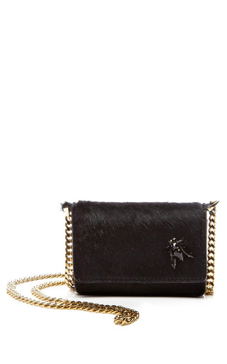 Medium rochas black black haircalf mini pochette