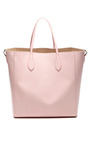 Ballet Pink Calf Leather Tote by ROCHAS for Preorder on Moda Operandi