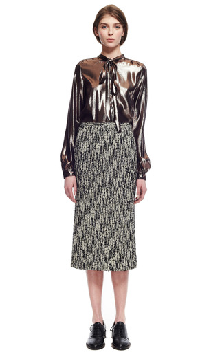 Stretch Chevron Pencil Skirt by ROCHAS for Preorder on Moda Operandi