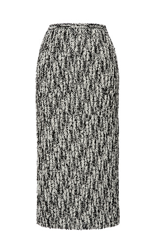 Medium rochas black stretch chevron pencil skirt