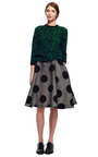 Embroidered Wool Polka Dot Skirt by ROCHAS for Preorder on Moda Operandi