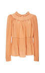 Crepe De Chine Pintuck Blouse by ROCHAS for Preorder on Moda Operandi