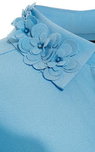 Crepe De Chine Collared Blouse by ROCHAS for Preorder on Moda Operandi
