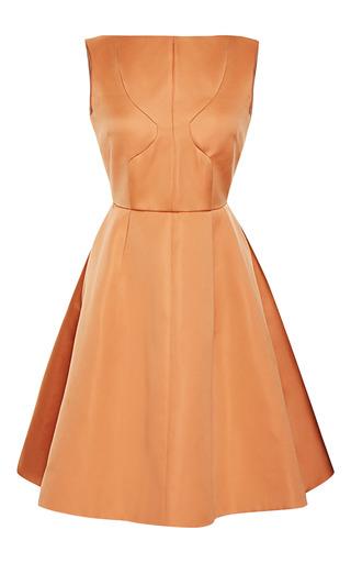Medium rochas brown seamed duchesse party dress