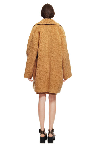 Peluche Wool Oversize Camel Coat by ROCHAS for Preorder on Moda Operandi